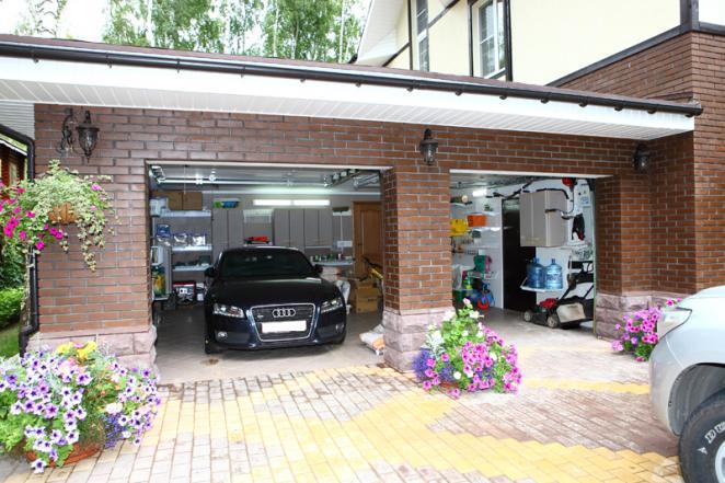 Дизайн гаража внутри в частном доме